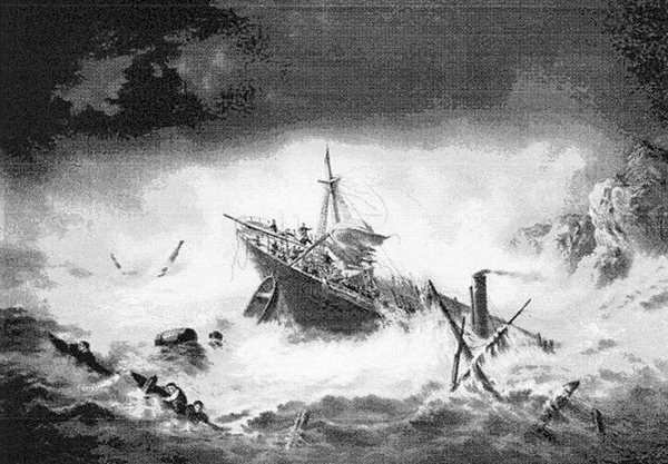 The sinking of the Hannah