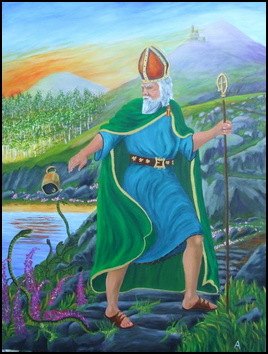 St. Patrick banishes the snakes