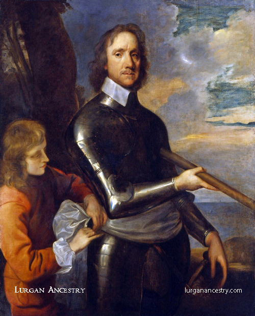 Oliver Cromwell in 1649 by Robert Walker